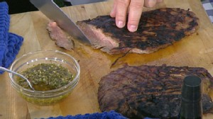 VIDEO: Emeril prepares the perfect flank steak for dad.