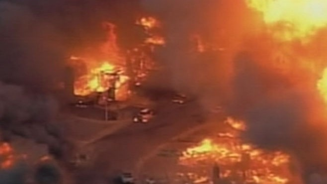 VIDEO: California Neighborhood Blows Up