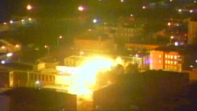 VIDEO: Investigators seek cause of explosion in downtown area.