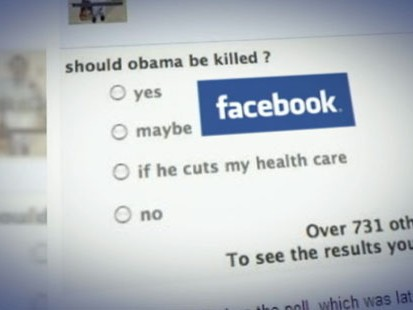 VIDEO: Facebook Poll asked if President Obama should be killed.