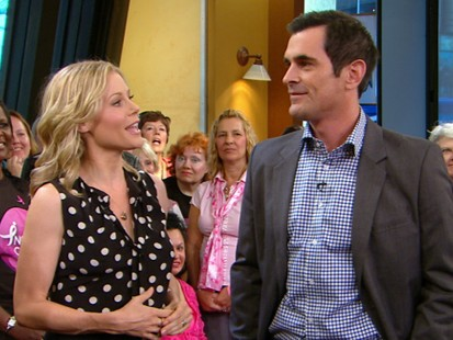 "VIDEO: Ty Burrell and Julie Bowen stop by to talk about ABCs ""Modern Family."""