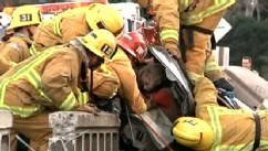 VIDEO: Rescuers save a California mother and her two daughters.