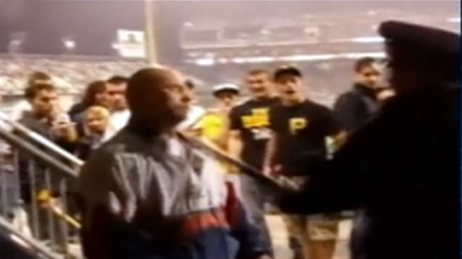VIDEO: Pittsburgh police use clubs and Tasers on an unruly fan.