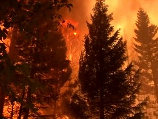 Watch: Raging Inferno Caught on Tape, Western Wildfires Spread