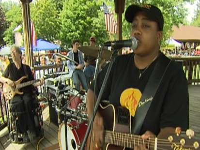 VIDEO: Music helps on autistic band heal and live strong.