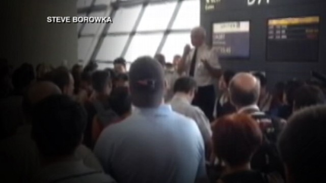 VIDEO: Passenger trying to fly from shanghai to the U.S. dealt with cancelations for three days.