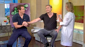 VIDEO: GMA Anchors Get Their Shots