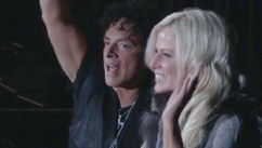 VIDEO:  The reality star and the guitarist for Journey are moving in together.