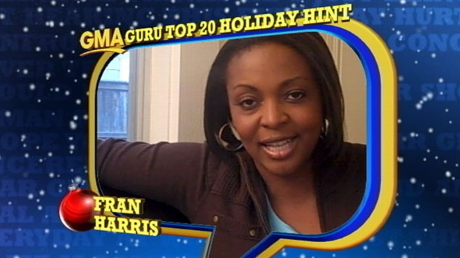 VIDEO: Check out Fran's tips on how to keep your holidays running smoothly.