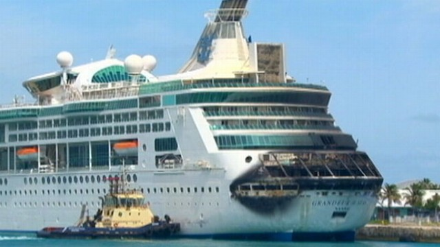 Video: Cruise Ship Passenger: Saw Fire Jump Out of Ship