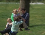 "VIDEO: Dan frolics with the ""19 Kids and Counting"" family for ""GMAs"" Reality Week."