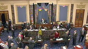 VIDEO: Senators plan to work through the holidays to get a health care bill passed.