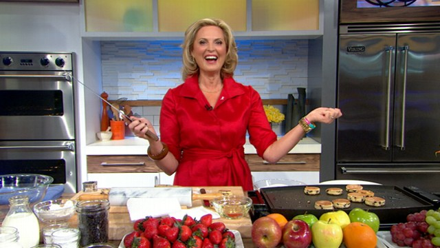 "VIDEO: The guest host saves her Welsh cakes from burning in the ""GMA"" kitchen."