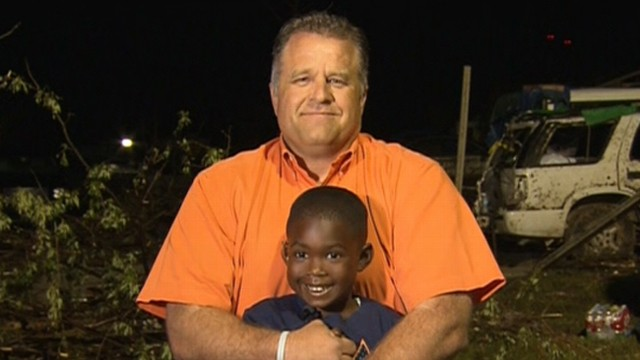 VIDEO: Hug between first grader Hezekiah Darbon and his neighbor