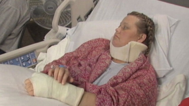 VIDEO: Woman endures horrific pain after breaking both legs while hiking.