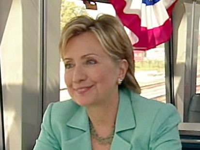A picture of Hillary Clinton on GMA.