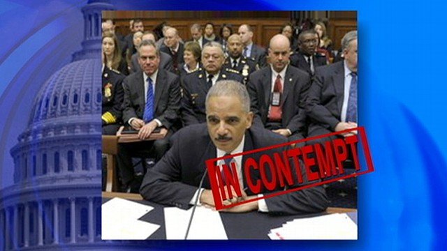 Image result for Holder held in contempt of congress