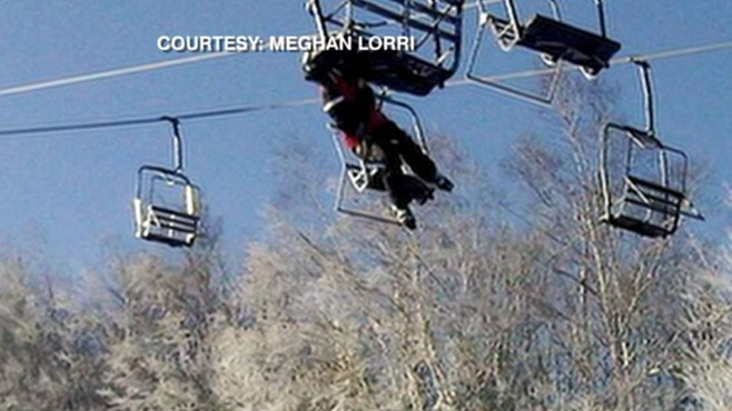 VIDEO: Lift accident at resort in Maine sends several skiers plummeting almost 30 feet.