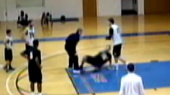 VIDEO: Holy Family University basketball coach may face assault charges.