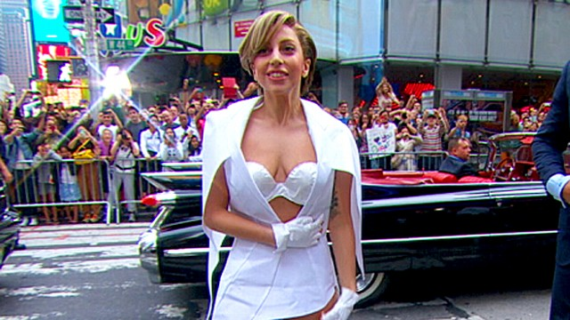 Lady Gaga Stuns on GMA With Paper Dress