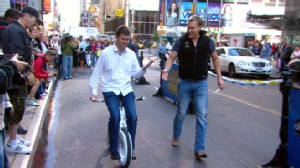 "VIDEO: ""Yike Bikes"" claim to be smallest, lightest, most compact bike in the world."