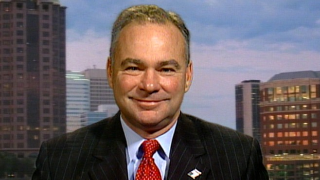 VIDEO: Tim Kaine wants Republicans to disclose campaign donors.