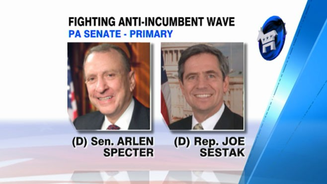 VIDEO: Democratic senators Arlen Specter and Joe Sestak are in a dead heat.