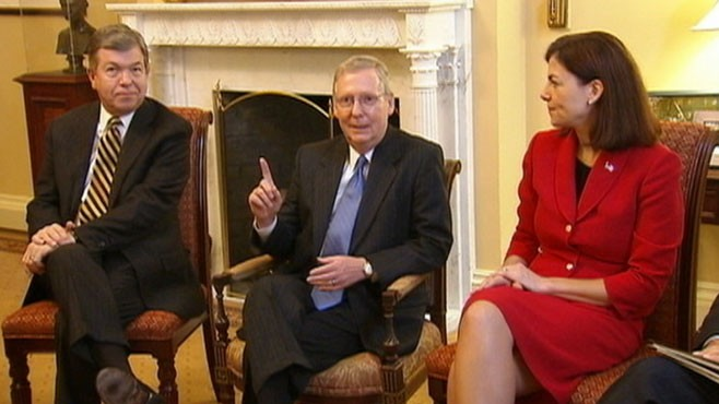 VIDEO: Senate Minority Leader Mitch McConnell, R-Ky., supports moratorium on earmarks.