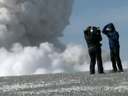 VIDEO: Get an up-close look at the volcano that has disrupted air traffic worldwide.