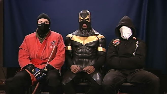 VIDEO: Phoenix Jones, Red Dragon and Buster Doe defend their crime fighting.