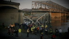 VIDEO: Three people fell when a highway bridge in Washington state collapsed.