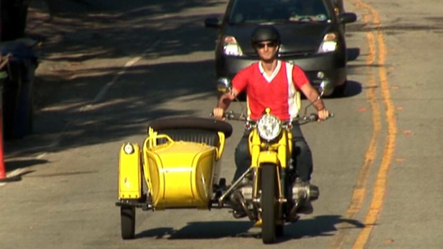 VIDEO: Leon Logothetis is relying only on the kindness of strangers to keep him going.