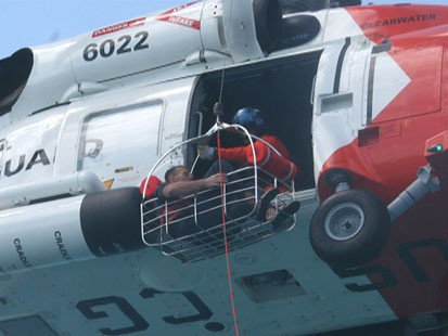 VIDEO: Coast Guard ramps up search for three men missing at sea.