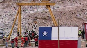 VIDEO: Fenix rescue capsule pulls Chilean miners to safety one-by-one.