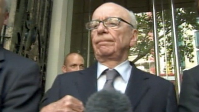 VIDEO: Embattled News Corp. owner faces tough questions along with deputy, son James.