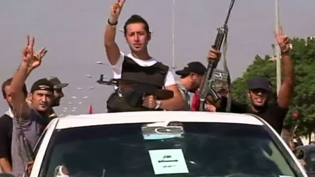 VIDEO: Rebels move on the capital and Gadhafi's three sons are reportedly in custody.