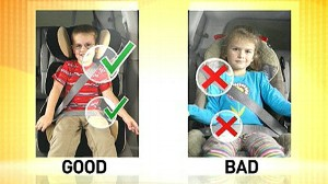 VIDEO: Only 15 of the 60 child car seats tested got top ratings by safety institute.