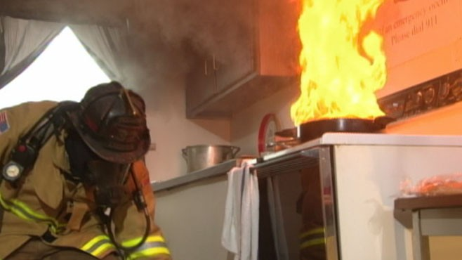 VIDEO: Learn the do's and don'ts of putting out cooking-related fires.