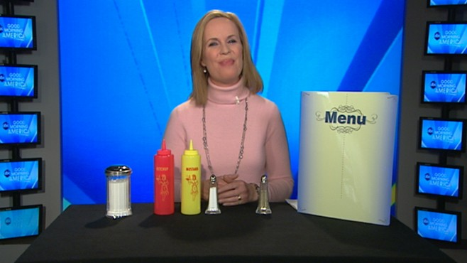 VIDEO: Elisabeth Leamy tests for germs on restaurant tables to see how clean they are.