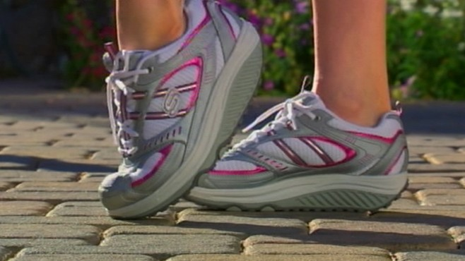 VIDEO: Woman sues Skechers over Shape-ups shoes.