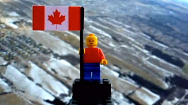 VIDEO: Two Toronto teens sent a Lego figure into the upper atmosphere on a balloon.