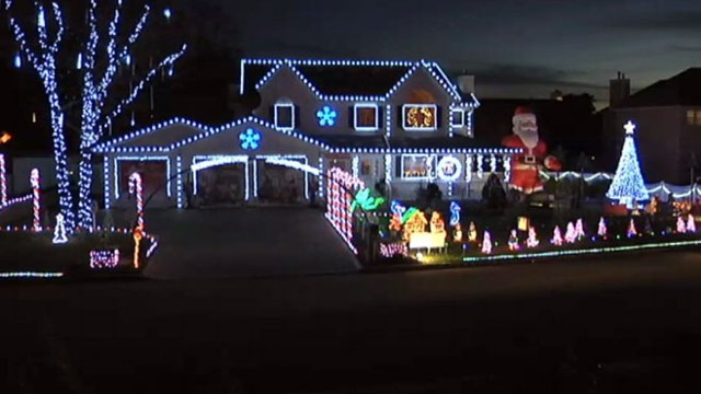VIDEO: The Gioves display is made up of 60,000 LED lights, raises money for charity.