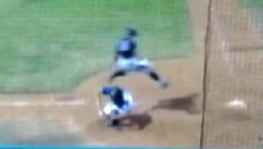VIDEO: Baseball Player Jumps Over Catcher to Score