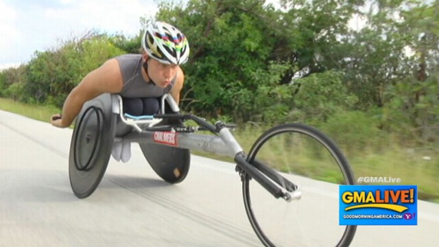 VIDEO: Paraplegic Athlete to Push His Chair Cross-Country