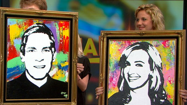 VIDEO: Artist and GMA fan, Tripp Derrick, created special portraits for Lara, Josh and Sam.