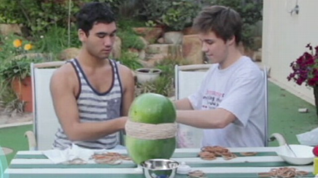 how to blow up a watermelon