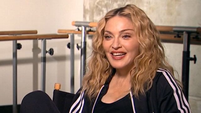 "VIDEO: The queen of pop celebrates the premiere of her documentary, ""Madonna: The MDNA Tour."""