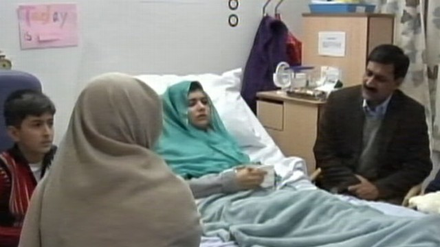 VIDEO: The 15-year-old who was nearly killed by the Taliban shows no signs of brain damage.
