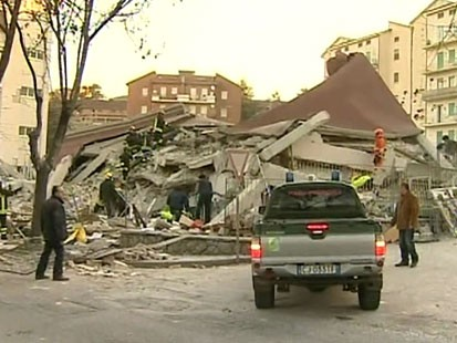 VIDEO: A magnitude 6.3 quake 70 miles northeast of Rome kills dozens of people.