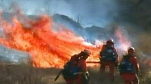 VIDEO: Difficult Terrain Works Against Calif. Fire Crews